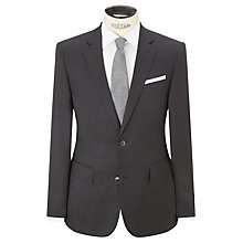 Buy Hackett London Windowpane Check Italian Super 110s Wool Suit Jacket, Charcoal Online at johnlewis.com