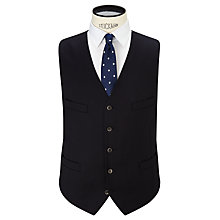 Buy Hackett London Super 110s Wool Twill Suit Waistcoat, Navy Online at johnlewis.com