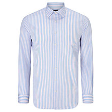 Buy Hackett London End on End City Stripe Tailored Shirt, Blue/Pink Online at johnlewis.com