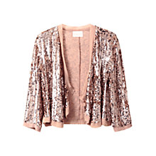Buy East Sequin Cardigan, Gold Online at johnlewis.com