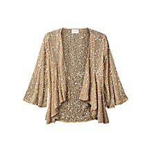 Buy East Sequin Waterfall Cardigan, Ivory Online at johnlewis.com