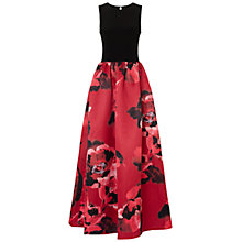 Buy Aidan Mattox Jersey Satin Ball Gown, Black/Ruby Online at johnlewis.com
