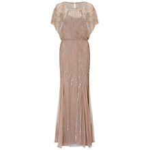 Buy Aidan Mattox Beaded Blouson Gown With Dolman Sleeve, Rose Gold Online at johnlewis.com