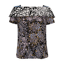 Buy French Connection Freida Flower Top, Utility Blue Online at johnlewis.com