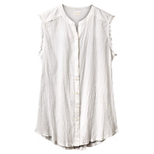 Buy East Crinkle Cotton Shirt, White Online at johnlewis.com