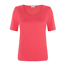 Buy Hobbs Laurie Top, Geranium Pink Online at johnlewis.com