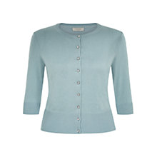Buy Hobbs Lois Cardigan, New Blue Online at johnlewis.com