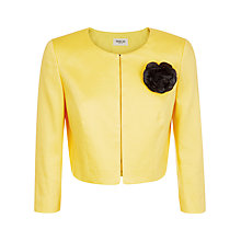 Buy Precis Petite Crepe Bolero, Bright Yellow Online at johnlewis.com