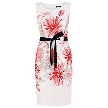Buy Precis Petite Placement Print Dress, Cream / Pink / Peach Online at johnlewis.com