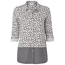 Buy White Stuff Alphabet Jersey Shirt, Dark Street Grey Online at johnlewis.com