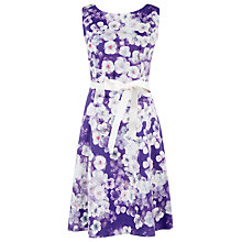 Buy Kaliko Marina Print Prom Dress, Multi Purple Online at johnlewis.com