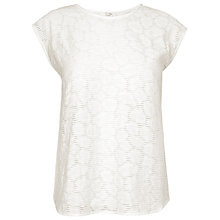Buy L.K. Bennett Kiera Top, Snow White Online at johnlewis.com