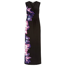 Buy Kaliko Placement Print Floral Maxi Dress, Purple/Multi Online at johnlewis.com