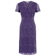 Buy Kaliko Lace Tiered Dress, Mid Purple Online at johnlewis.com