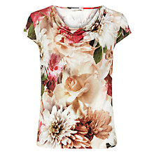 Buy Kaliko Floral Print Cowl Neck Top, Multi Online at johnlewis.com