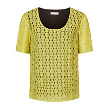 Buy Windsmoor Floral Lace Top, Bright Yellow Online at johnlewis.com