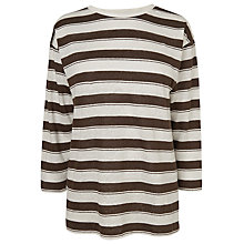 Buy L.K. Bennett Par Linen Printed Top, Khaki Online at johnlewis.com