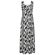 Buy Windsmoor Ikat Print Maxi Dress, Multi  Black Online at johnlewis.com