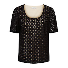 Buy Windsmoor Floral Lace Top, Black Online at johnlewis.com