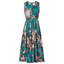Buy L.K. Bennett Cortona Printed Dress, Jade Online at johnlewis.com