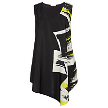 Buy Windsmoor Asymmetric Print Tunic Top, Multi Black Online at johnlewis.com