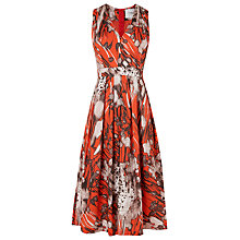 Buy L.K. Bennett Cortona Printed Dress, Satsuma Online at johnlewis.com