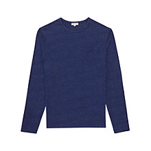 Buy Reiss Mexico Denim Effect Long Sleeve Shirt, Indigo Online at johnlewis.com