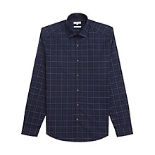 Buy Reiss Panther Grid Check Shirt, Navy Online at johnlewis.com