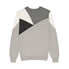 Buy Reiss Bomber Colour Block Jumper, Grey Online at johnlewis.com