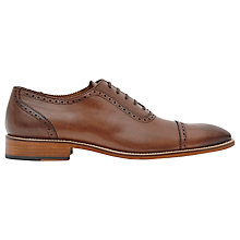 Buy Reiss Del Formal Leather Brogues, Mid Brown Online at johnlewis.com
