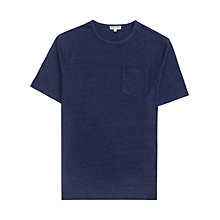 Buy Reiss Columbia Patch Pocket T-Shirt, Indigo Online at johnlewis.com