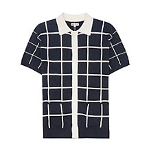 Buy Reiss Pacha Button Polo Shirt, Navy Online at johnlewis.com
