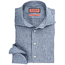 Buy Thomas Pink Rushdon Stripe Slim Fit Shirt, Navy/White Online at johnlewis.com