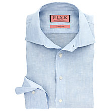 Buy Thomas Pink Southwell Stripe Slim Fit Linen Shirt, Pale Blue/White Online at johnlewis.com