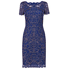 Buy Phase Eight Taya Embroidered Dress, Blue Online at johnlewis.com