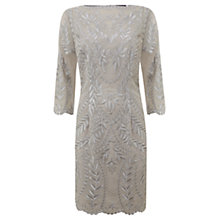 Buy Mint Velvet Platinum Embroidered Dress, Grey Online at johnlewis.com