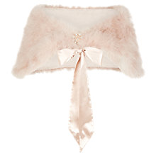 Buy Jacques Vert Feather Stole, Mid Neutral Online at johnlewis.com