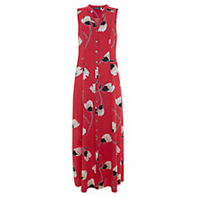 Buy Mint Velvet Lucia Print Maxi Shirt Dress, Red Online at johnlewis.com