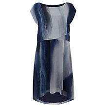 Buy Mint Velvet Beth Print Midi Dress, Iris Blue / Ivory Online at johnlewis.com