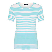 Buy Viyella Pure Cotton Striped Top, Turquoise Online at johnlewis.com