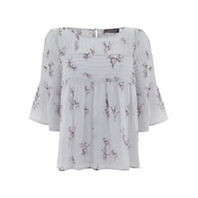 Buy Mint Velvet Bluebell Printed Boho Top, Lilac Online at johnlewis.com
