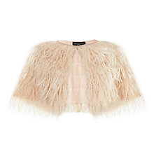 Buy Phase Eight Felicia Feather Cape, Nude Online at johnlewis.com