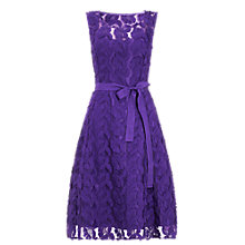 Buy Phase Eight Cher Flower Dress, Violet Online at johnlewis.com