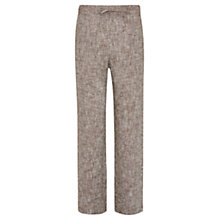Buy Viyella Petite Stitched Linen Trouser, Bitter Chocolate Online at johnlewis.com