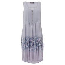 Buy Mint Velvet Bella Print Pintuck Dress, Lilac Online at johnlewis.com