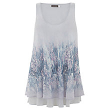 Buy Mint Velvet Bella Print Swing Top, Lilac Online at johnlewis.com