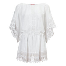 Buy Phase Eight Calista Kaftan Dress, White Online at johnlewis.com