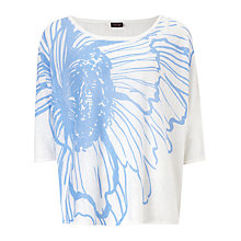 Buy Phase Eight Newington Top, White/Blue Online at johnlewis.com
