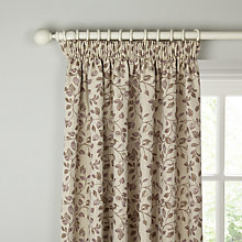 Buy John Lewis Sherwood Lined Pencil Pleat Curtains, Cassis Online at johnlewis.com