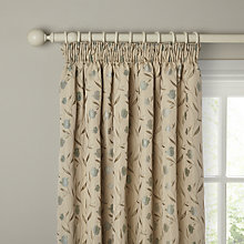 Buy John Lewis Tulips Lined Pencil Pleat Curtains, Duck Egg Online at johnlewis.com